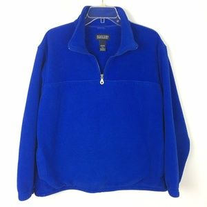 Lands End Women'sHalf Zip Pullover Fleece Sweater
